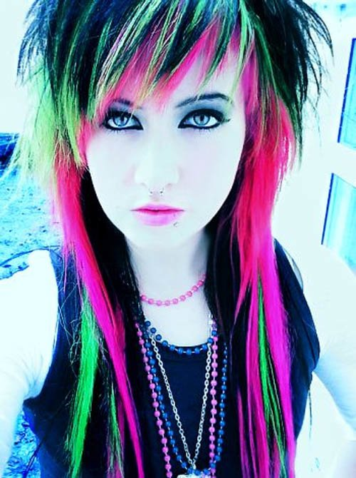 New All About Fashion Collection Colored Hairstyles Ideas With Pictures