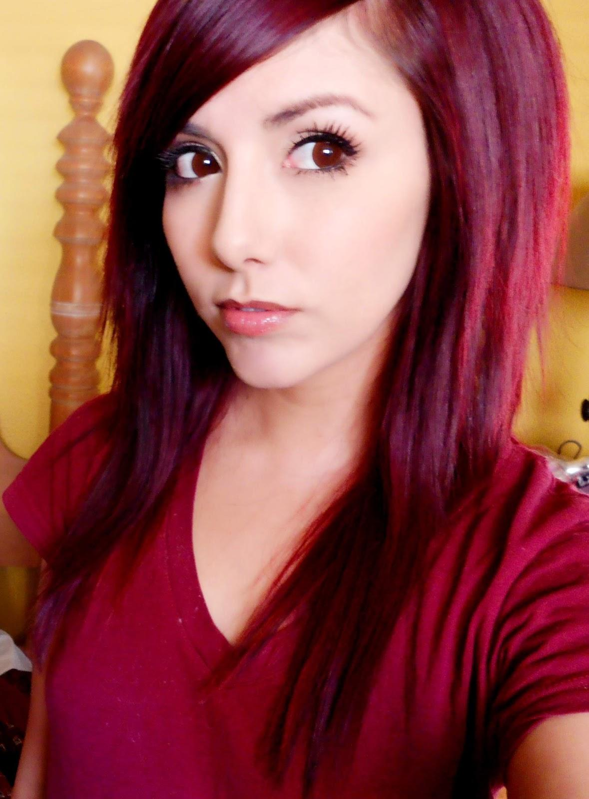 New Technicolor My Hair Color How To Get Dark Red Hair Ideas With Pictures