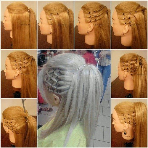 New Wonderful Diy Stylish High Ponytail With Side Mesh Ideas With Pictures