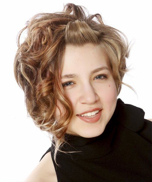 New Dewi Image Casual Updo Medium Curly Hairstyles Ideas With Pictures