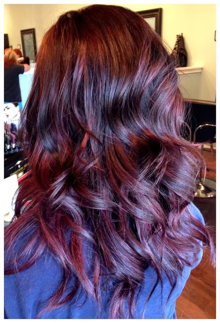 New Dark Red Violet Hair Color Ideas With Pictures ...
