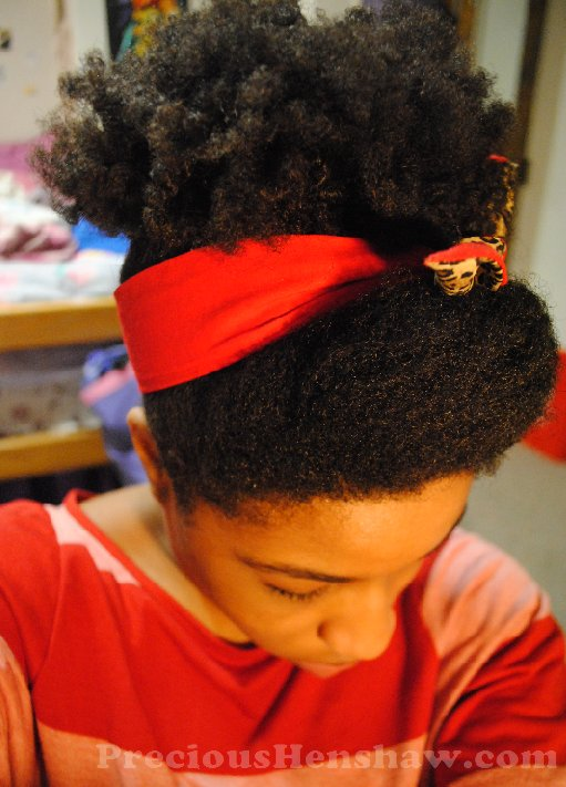 New Pin Up Scarf Hairstyle For Natural Hair Curlynikki Ideas With Pictures