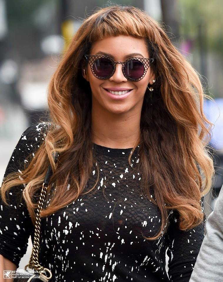 New Beyonce Tries Out New Short Bangs Hairstyle – The Style Ideas With Pictures