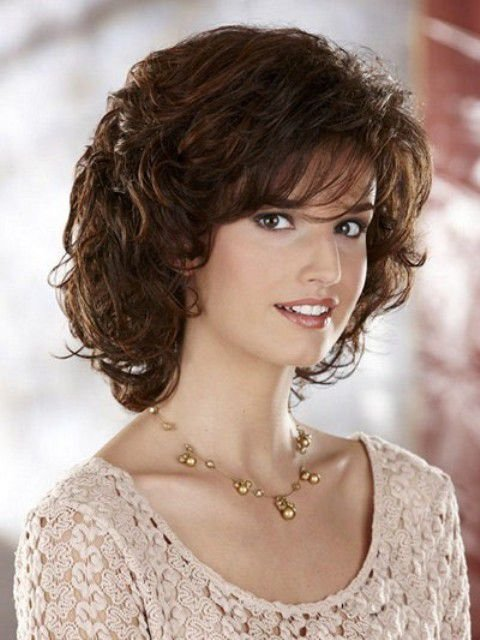 New Medium Length Curly Hairstyles For Round Faces Ideas With Pictures