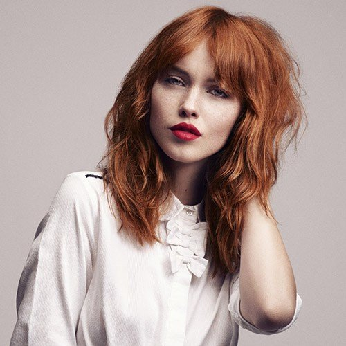New Medium Length Auburn Red Hairstyles Hair World Magazine Ideas With Pictures