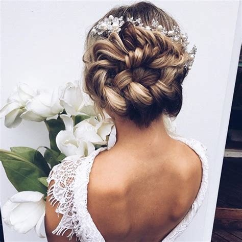New Braided Bun Wedding Hairstyles Photos Brides Com Ideas With Pictures
