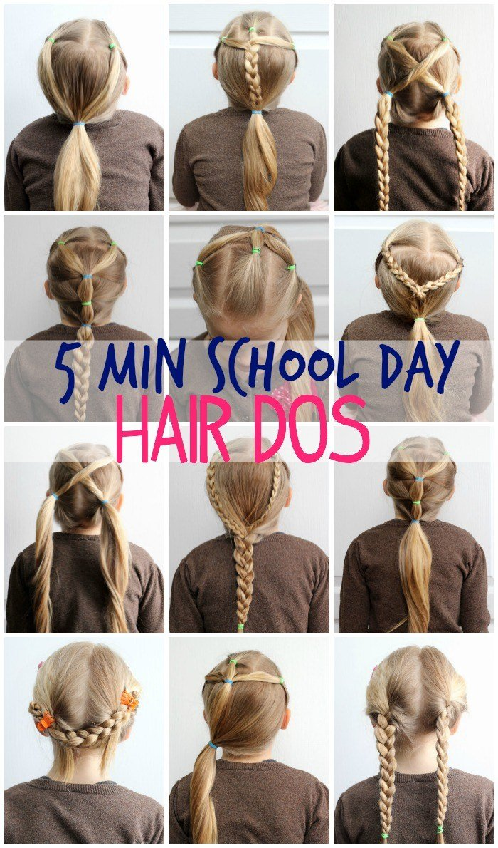 New 5 Minute School Day Hair Styles Fynes Designs Fynes Ideas With Pictures