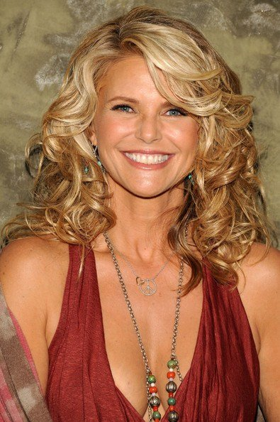 New Christie Brinkley S Highlighted Curls Haute Hairstyles Ideas With Pictures