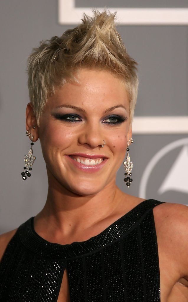 New Pink Fauxhawk Pink Short Hairstyles Looks Stylebistro Ideas With Pictures