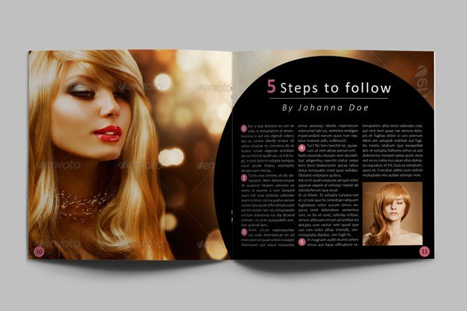 New Hair Style Catalog Template Graphicriver Print Template Ideas With Pictures