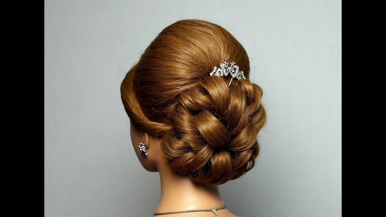 New Wedding Prom Hairstyle For Long Hair Bridal Updo Youtube Ideas With Pictures