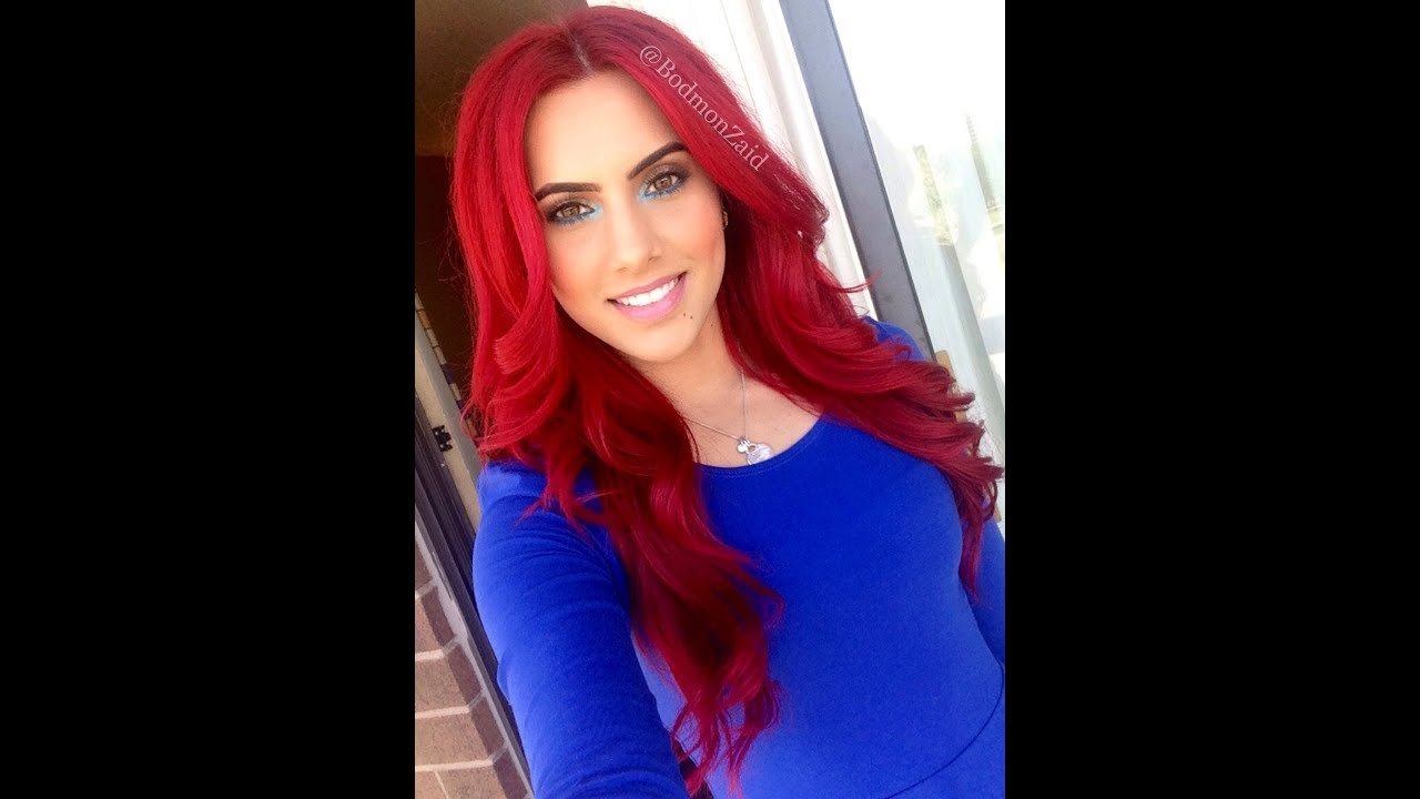 New How To Dye Dark Hair Bright Red Without Bleach Youtube Ideas With Pictures