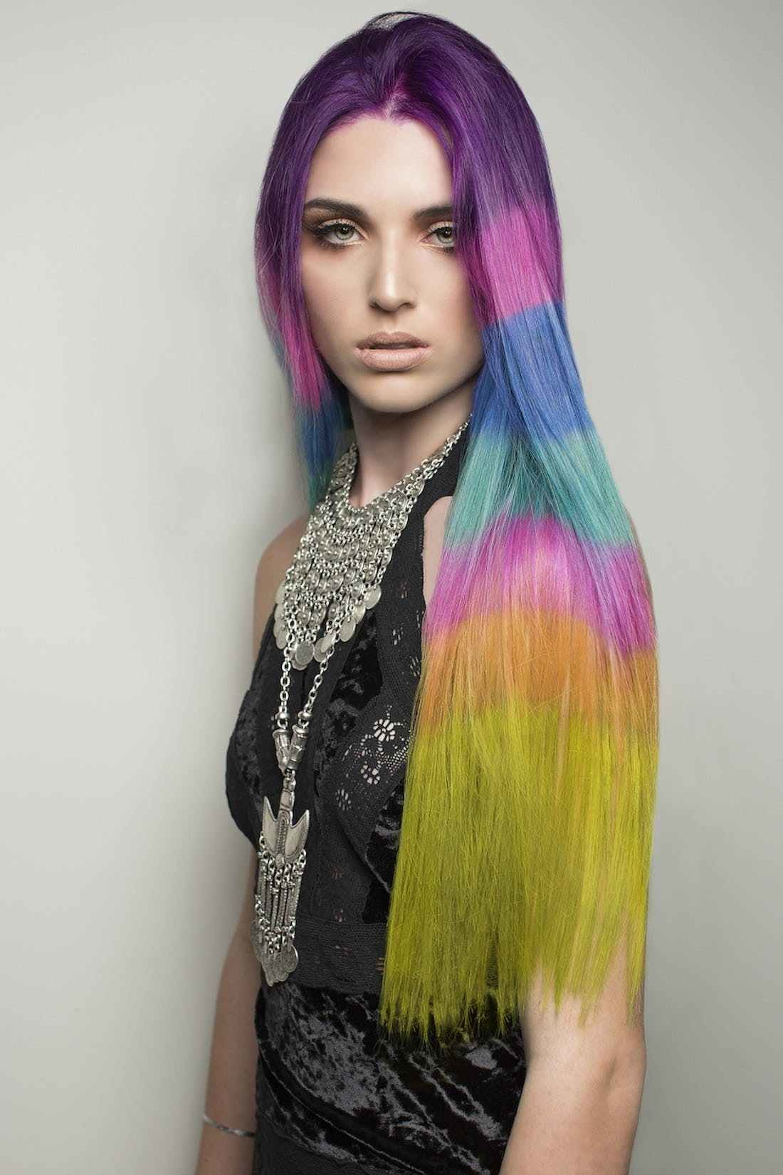 New The Color Blocked Hair Dye Trend Takes Rainbow Hair To The Next Level Brit Co Ideas With Pictures