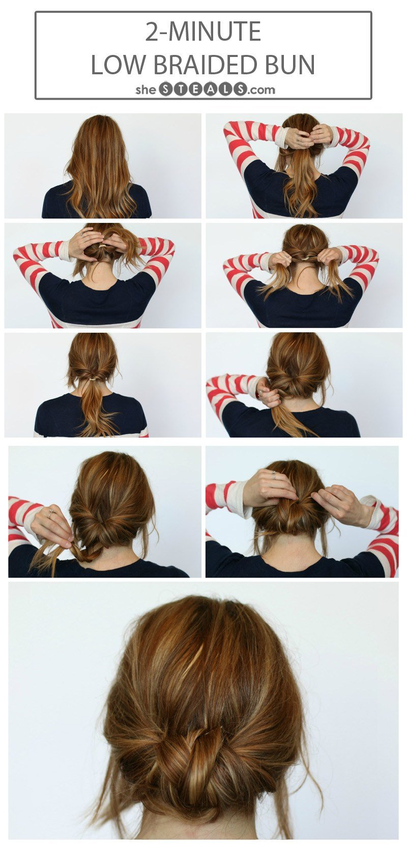 New 2 Minute Low Braided Bun Ideas With Pictures