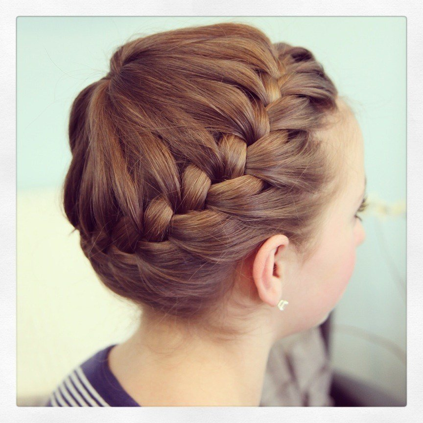 New Starburst Crown Braid Updo Hairstyles Cute Girls Ideas With Pictures