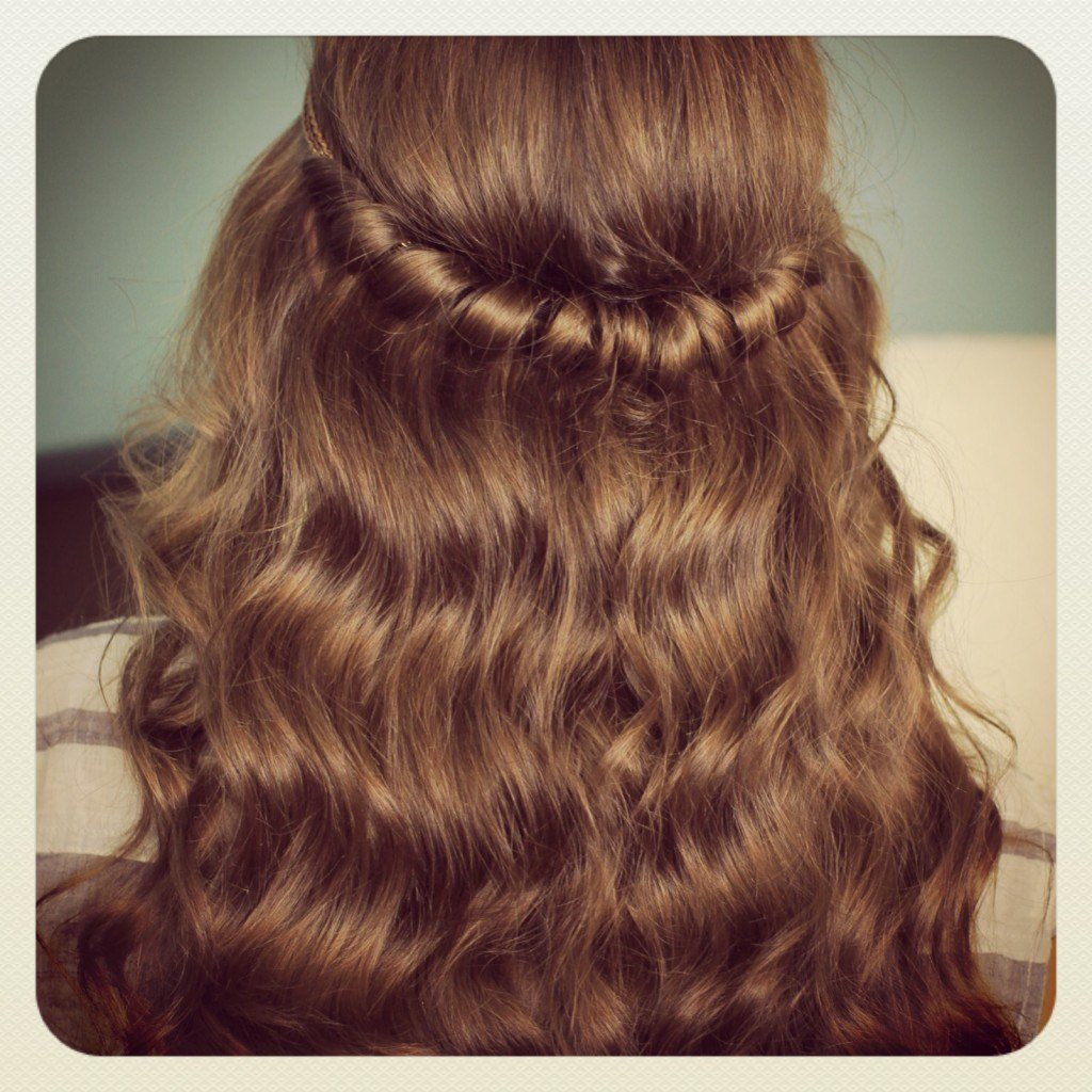New Headband Twist Half Up Half Down Hairstyles Cute Girls Ideas With Pictures