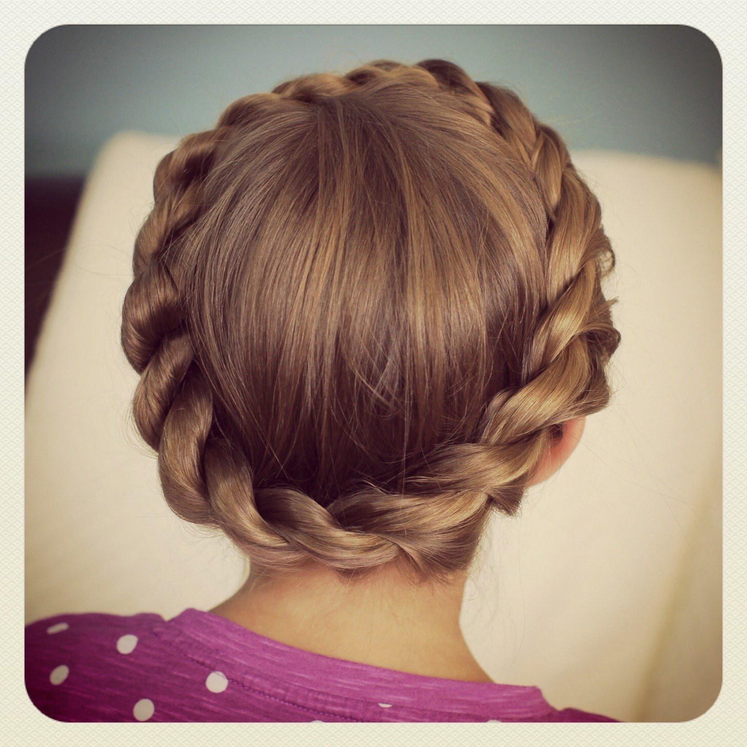 New Crown Rope Twist Braid Updo Hairstyles Cute Girls Ideas With Pictures