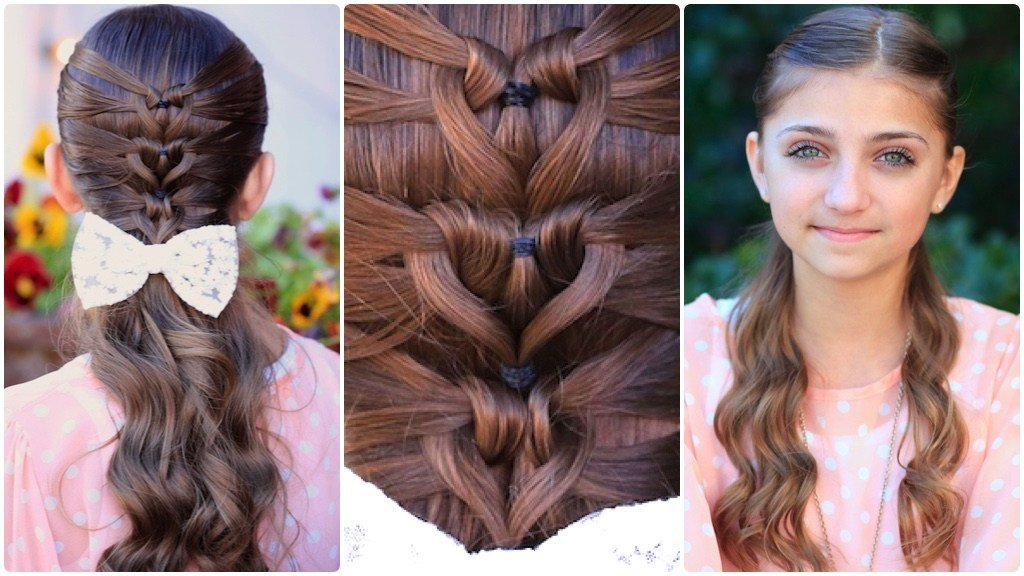 New Mermaid Heart Braid Cute Valentine S Day Hairstyles Ideas With Pictures