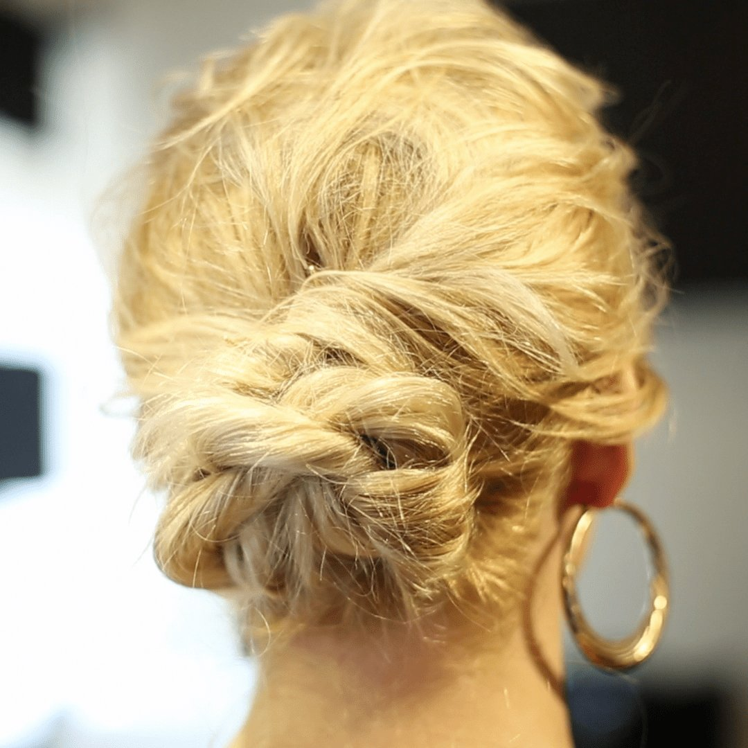New On The Go Updo The Rope Braid Hairstyle More Com Ideas With Pictures