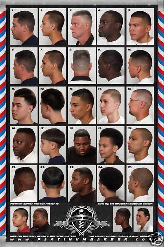 New 24 X 36 Barber Shop Poster Chart Modern Hair Styles For Ideas With Pictures Original 1024 x 768