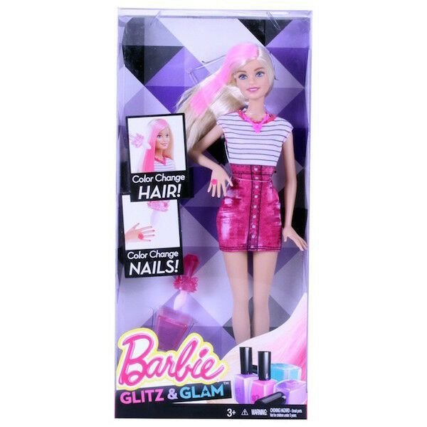 New Rare Barbie Hair Nail Colour Changing Doll Glitz Glam Ideas With Pictures Original 1024 x 768