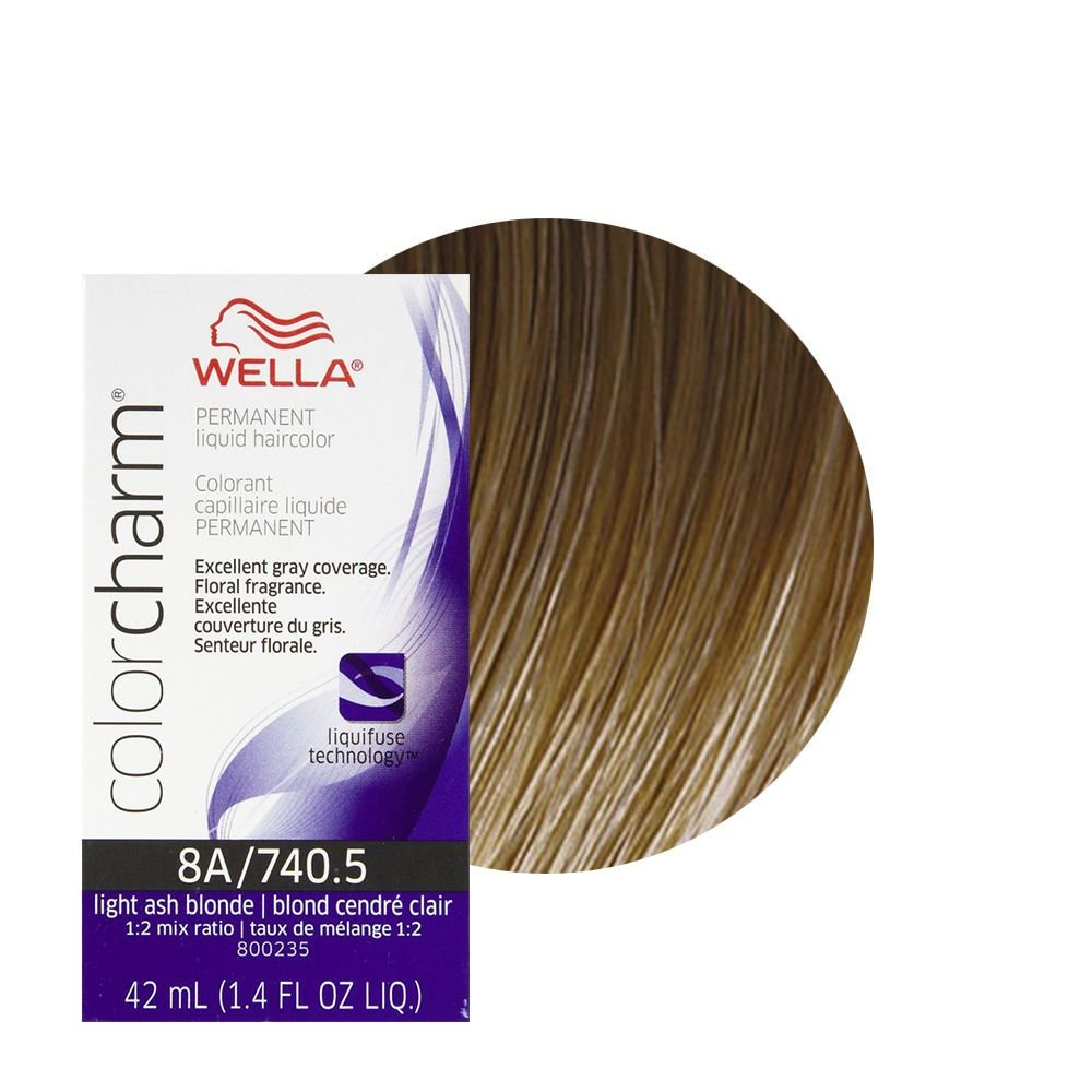 New Wella Color Charm Permament Liquid Hair Color 42Ml Light Ash Blonde 740 5 8A Ebay Ideas With Pictures