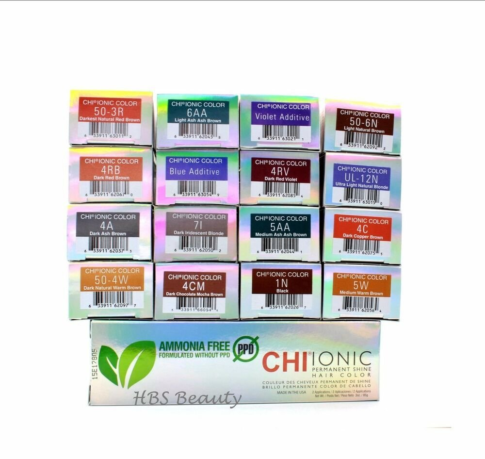 New Chi Ionic Permanent Shine Hair Color Ammonia Free Ppd Ideas With Pictures