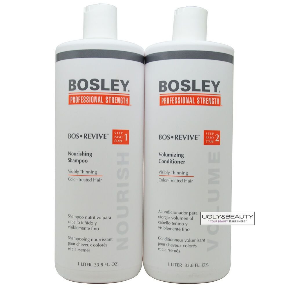 New Bosley Bos Revive Shampoo Conditioner 1 Liter Set For Ideas With Pictures