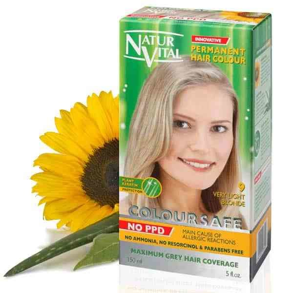 New Ppd Free Hair Dye Naturvital Coloursafe Very Light Golden Ideas With Pictures