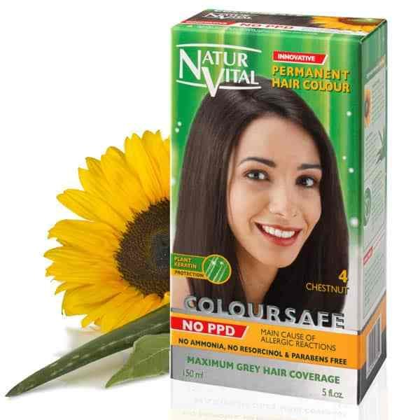 New Ppd Free Hair Dye Naturvital Coloursafe Chestnut No 4 No Ideas With Pictures