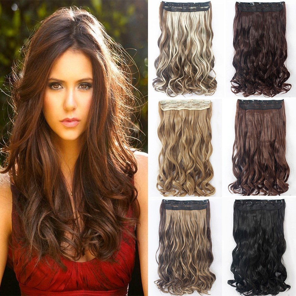 New 22 130G Curly Hairpiece Fashion One Piece Clip In Hair Ideas With Pictures