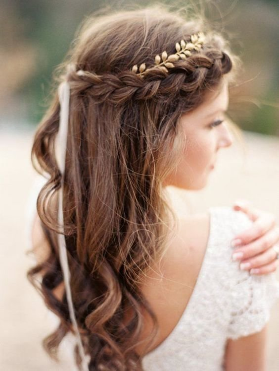 New The Braided Crown Hairstyle For A Beautiful Summer Wedding Ideas With Pictures
