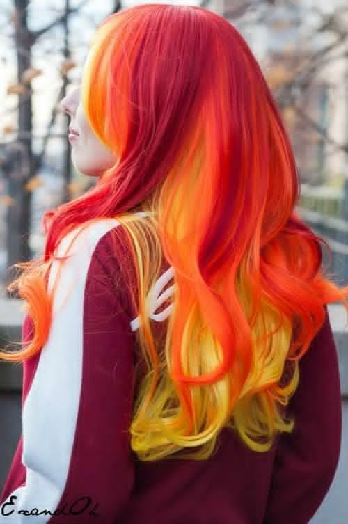 New Best Big Red Ombre Hair Dye Set Flaming Hot Ombre Hair Ideas With Pictures