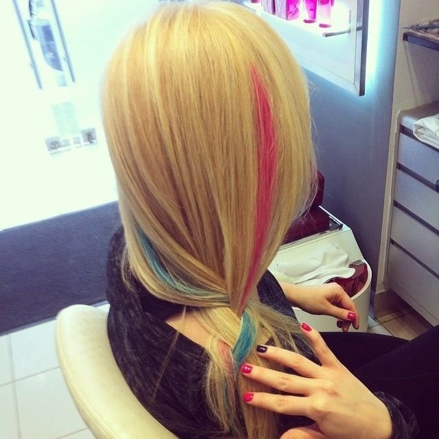 New Colored Streak Blonde Hair Pictures Photos And Images Ideas With Pictures