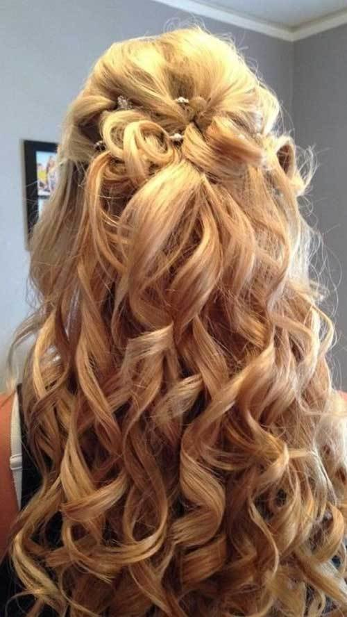 New 30 Best Half Up Curly Hairstyles Hairstyles Haircuts Ideas With Pictures