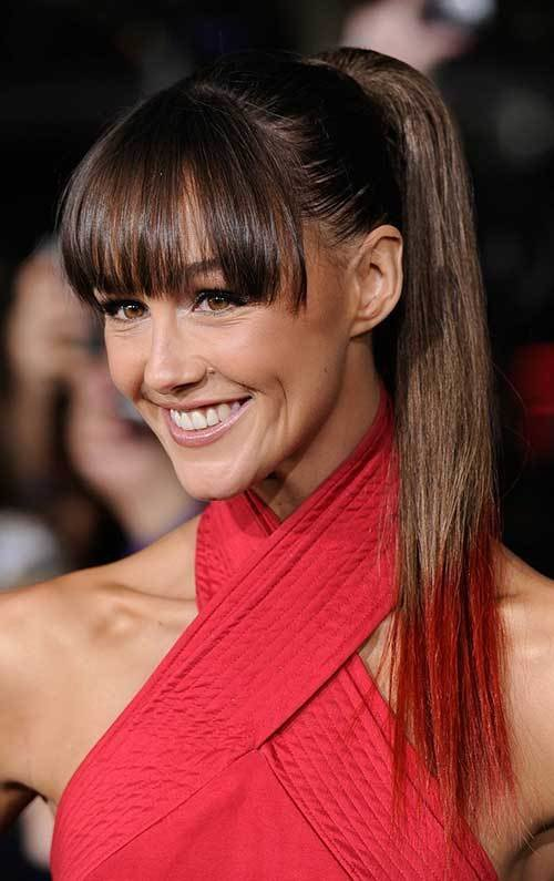 New 15 Long Ponytail With Bangs Hairstyles Haircuts 2016 Ideas With Pictures