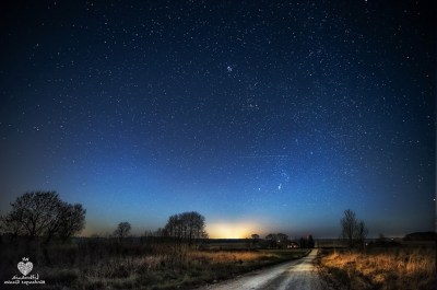 landscape, Evening, Morning, Lithuania, Stars, Nebula ...