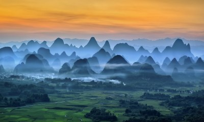 nature, Landscape, Mist, Mountain, Field, Morning, China ...