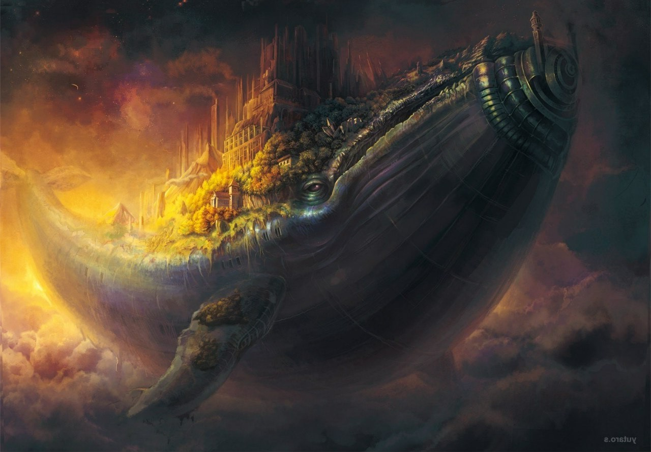 Artwork Whale Fantasy Art Clouds Ship Wallpapers Hd