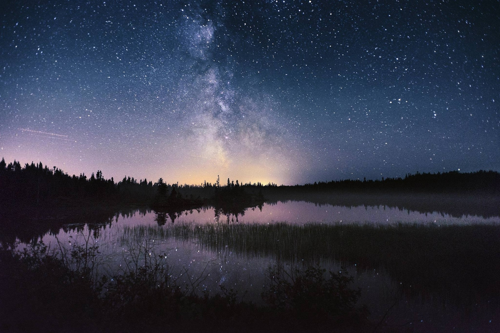 Nature Landscape Photography Milky Way Starry Night