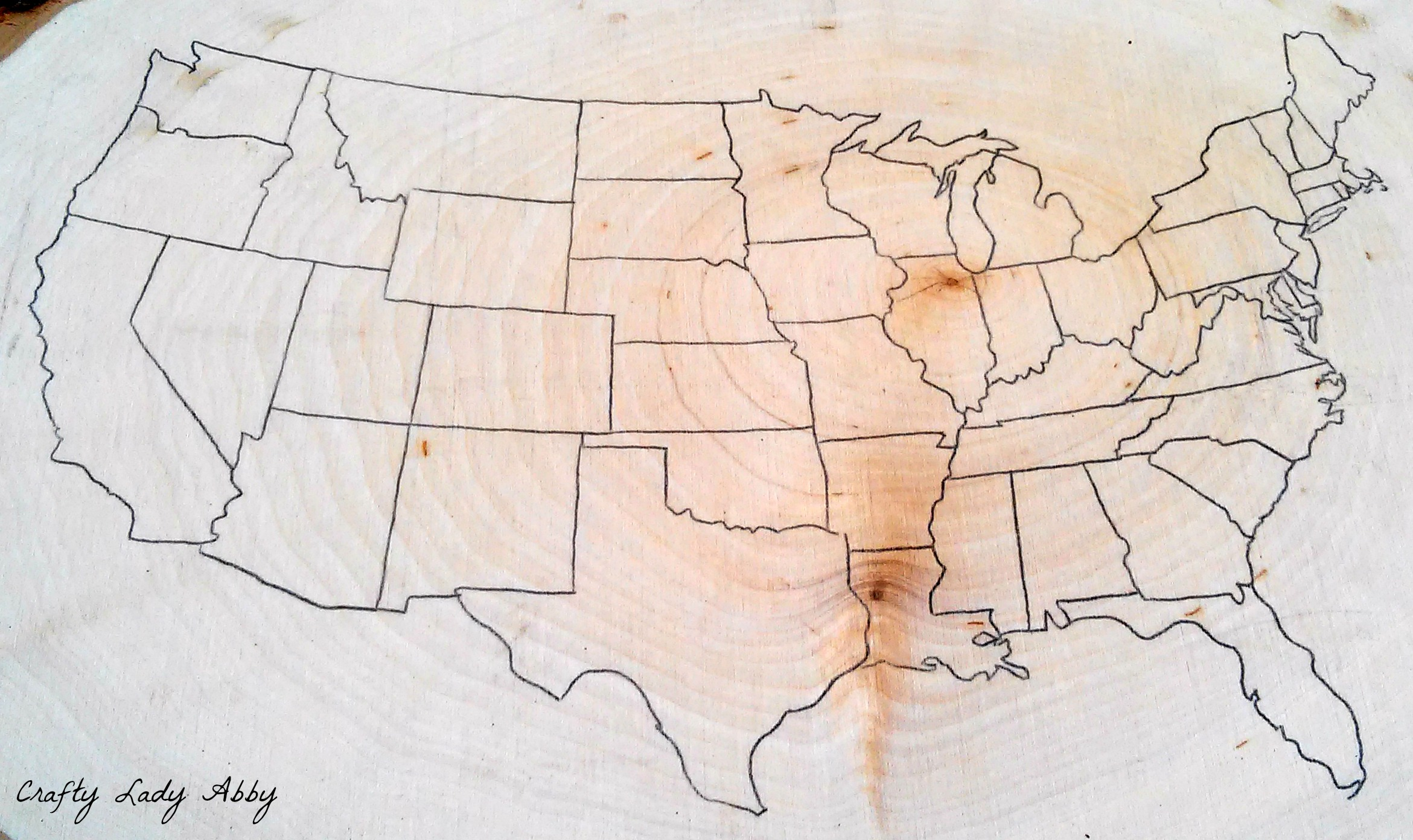 Father s Day Wood Burned USA Road Trip Map   walnuthollowcrafts 06 08 2015 FATHERS DAY WOOD BURNED USA ROAD TRIP MAP 1