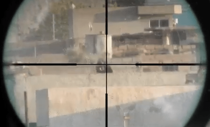 Iraqi Tries To Quot Spray And Pray Quot Machine Gun At Sniper But