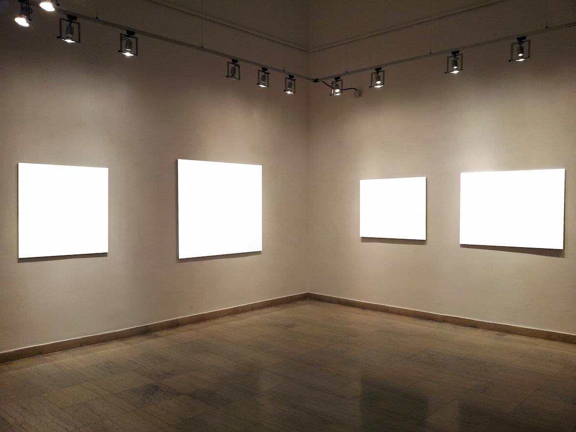 Track Lighting Gallery Wall