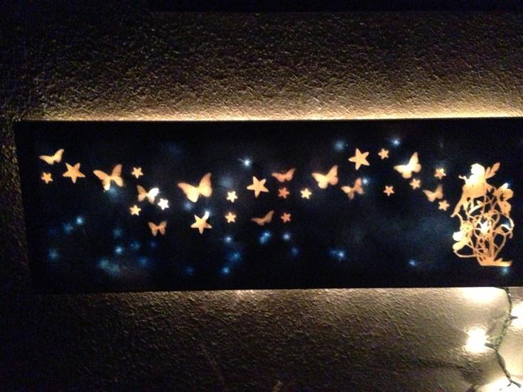 Canvas Christmas Prints Led Lights