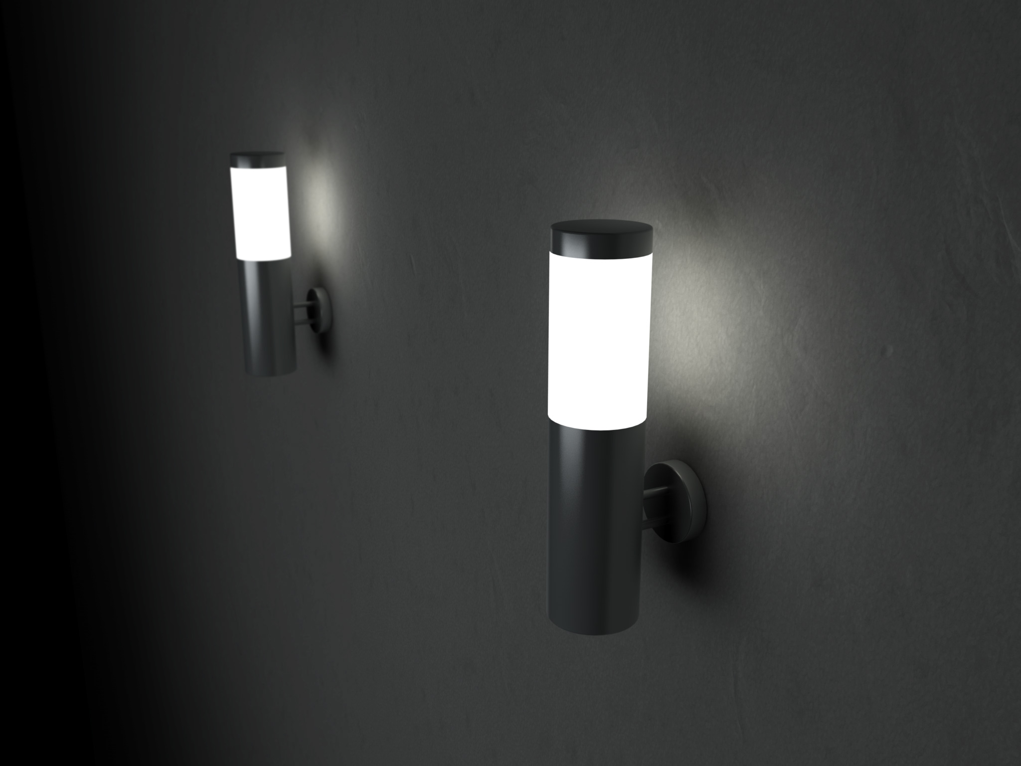 Solar Powered Wall Sconce