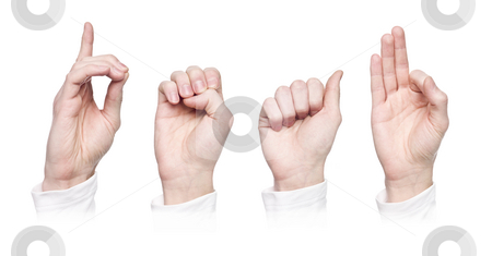 The word  deaf  in sign language stock photo The word  deaf  in sign language