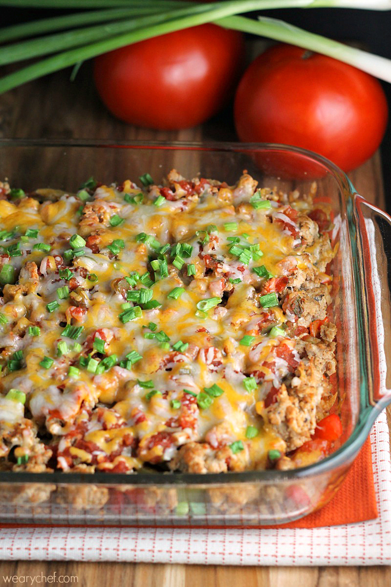 Layered Mexican Barley Casserole The Weary Chef