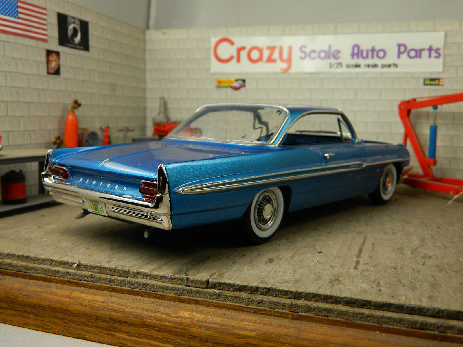 Review  1961 Pontiac Ventura   IPMS USA Reviews Right rear view of model