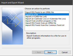 O365 PST Export