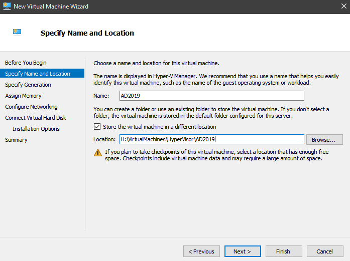 Exchange Server 2019 Hyper V Install - Virtual Machines